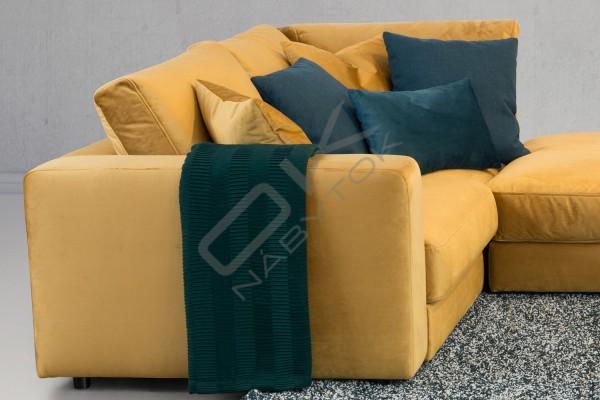 Rohová sedacia súprava RIO s taburetkou
