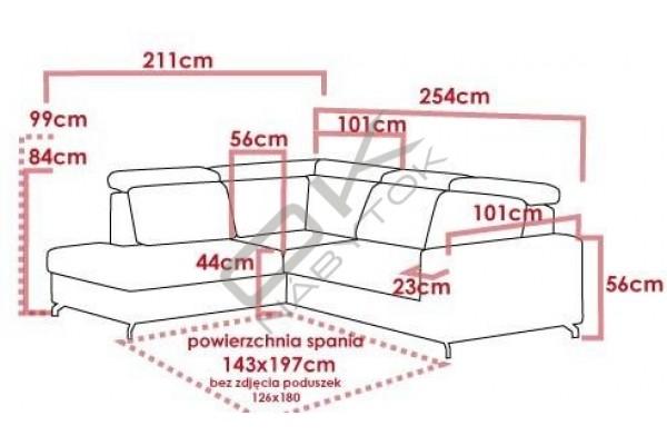 Rohová sedacia súprava ALDO - široký výber farieb