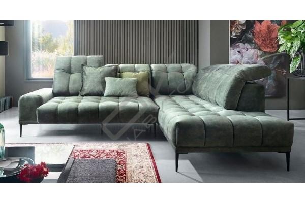 Luxusná rohová sedačka AUTENTICO sivá