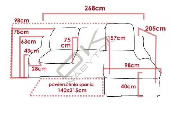 Rohová sedacia súprava BAVERO - široký výber farieb