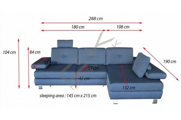 Rohová sedacia súprava GARDA - široký výber farieb