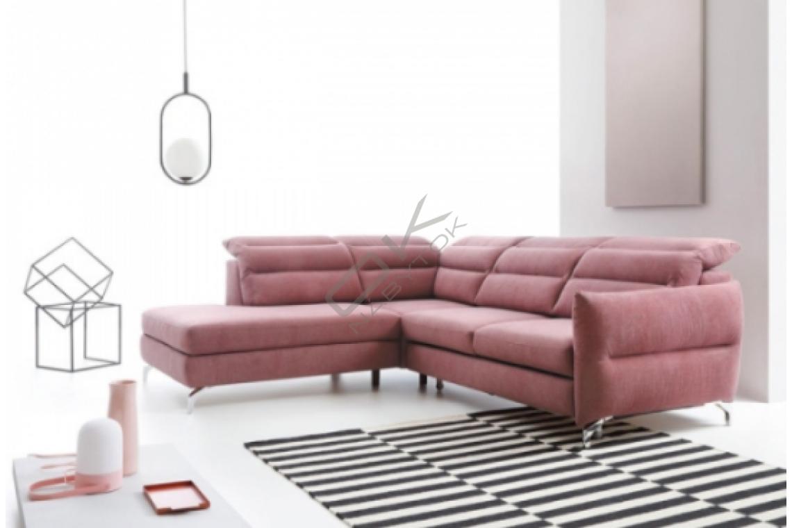 Rohová sedacia súprava MONTALE - ružová
