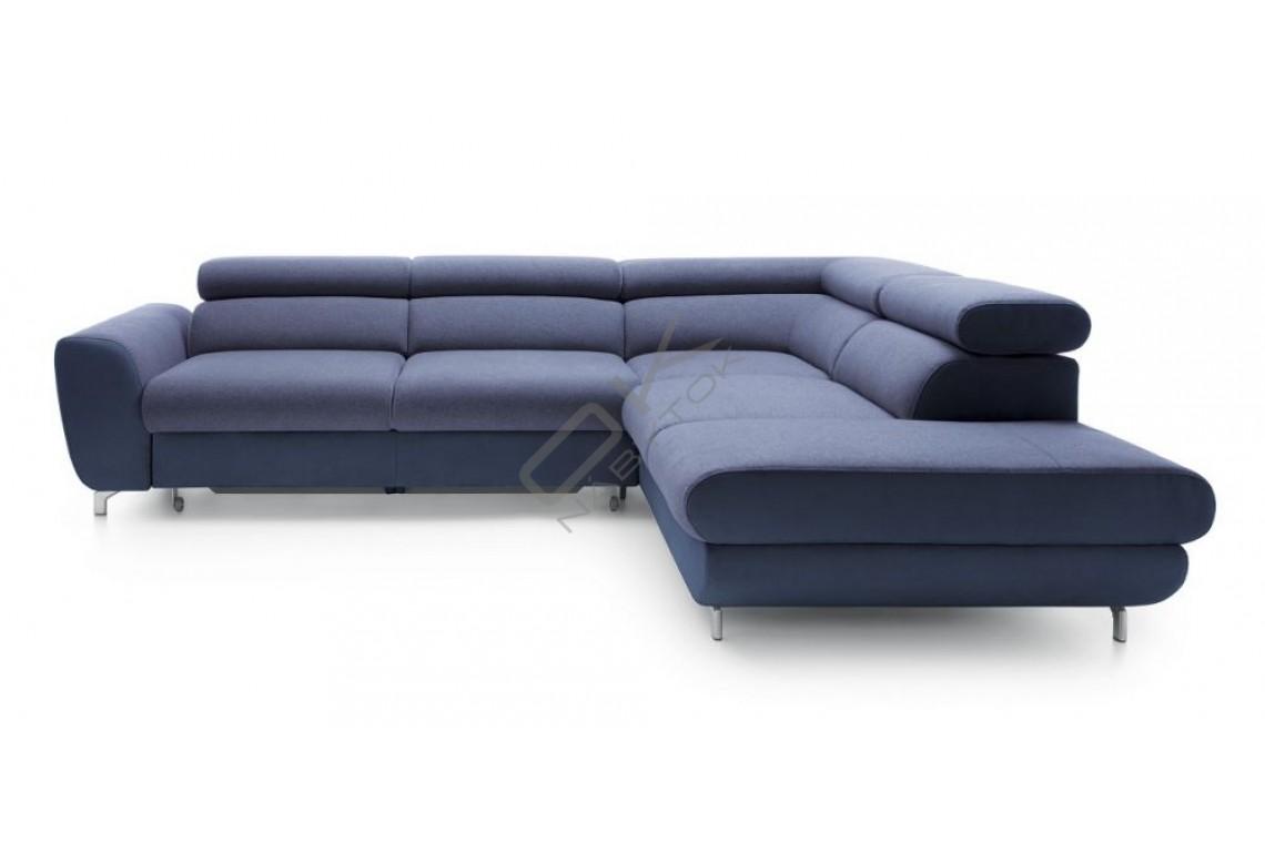 Moderná rohová sedacia súprava PIANO - modrá
