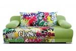 Mondo graffity 3R, látka Suedine 1337 zelená