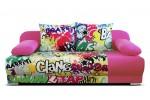 Mondo graffity 3R, látka Suedine 416 ružová
