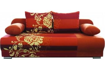 EMS Rozkladacia pohovka MONDO FLOWERS 3R - oranž/béžový kvet