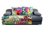 Mondo graffity 3R, látka Suedine 1024 sivá
