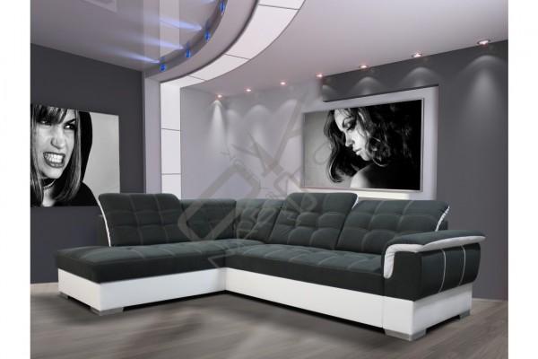 Rohová sedacia súprava ALTEA - oliva/biela