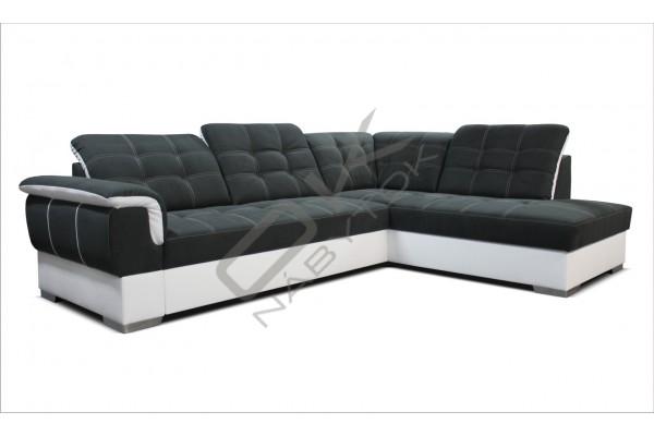 Rohová sedacia súprava ALTEA - tmavosivá/biela