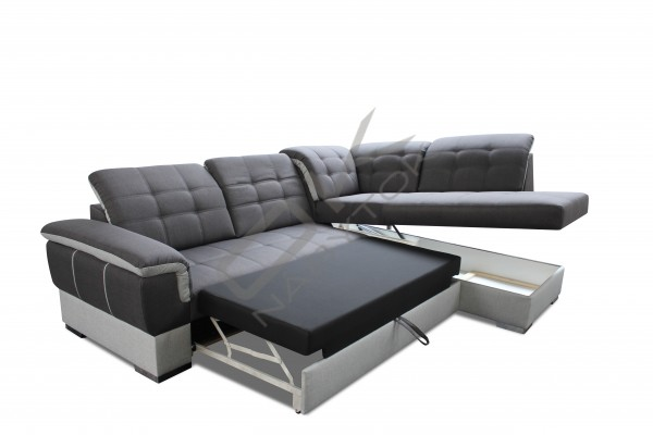 Rohová sedacia súprava ALTEA - tmavohnedá/biela