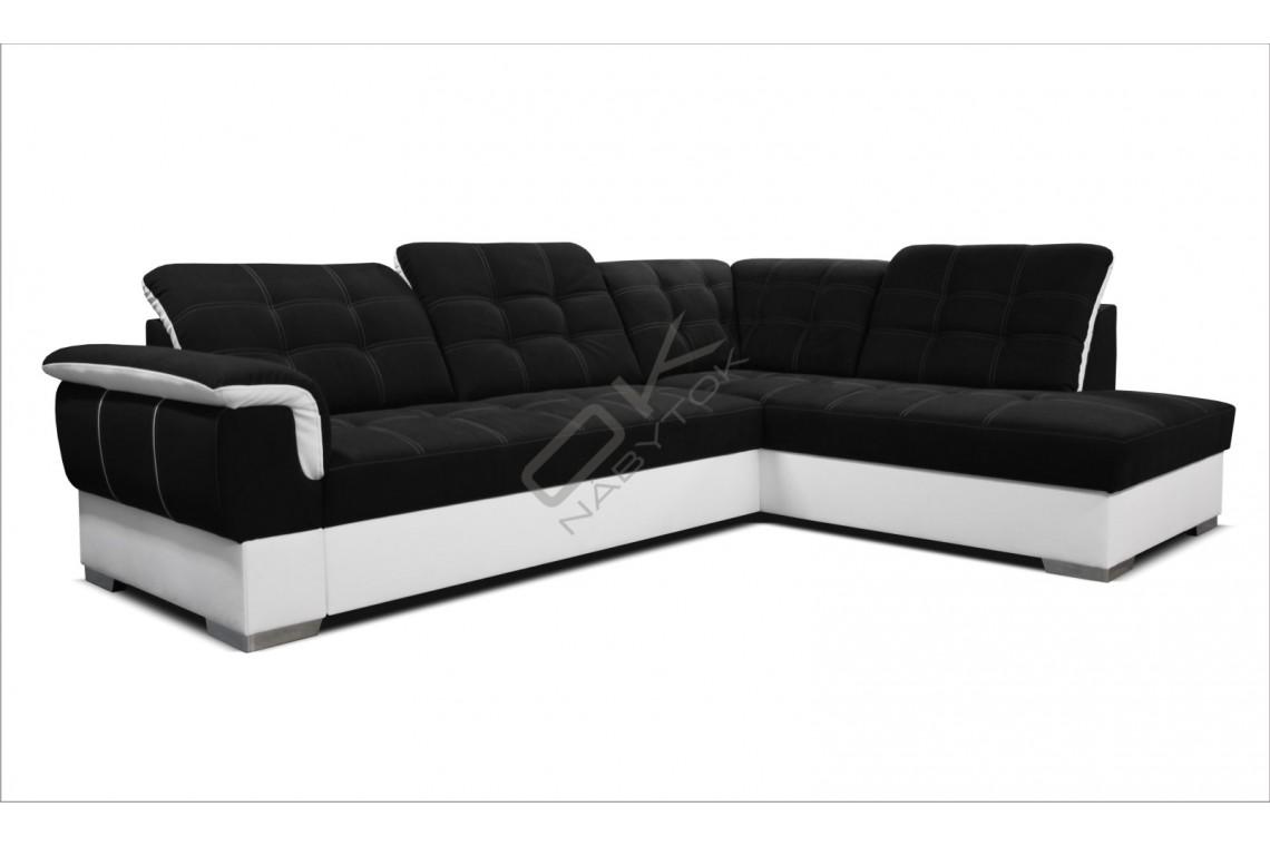 Rohová sedacia súprava ALTEA - čierna/biela