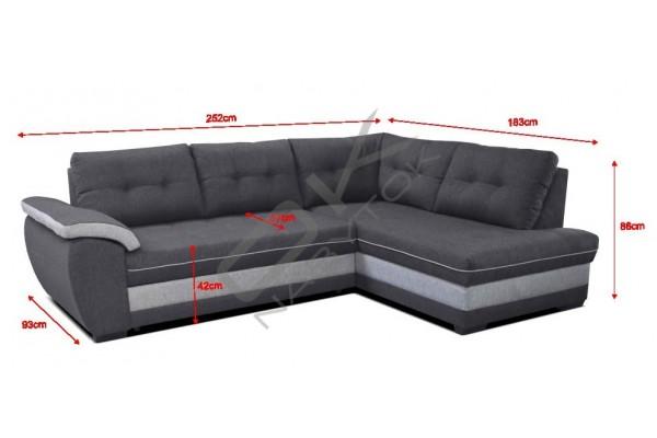 Rohová sedacia súprava  ARUBA ROH - široký výber farieb