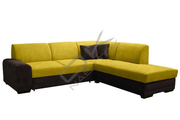 Rohová sedacia súprava COSMA - svetlohnedá/tmavohnedá