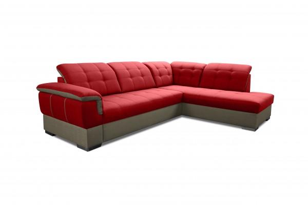 Rohová sedacia súprava GALAXY - červená/tmavosivá