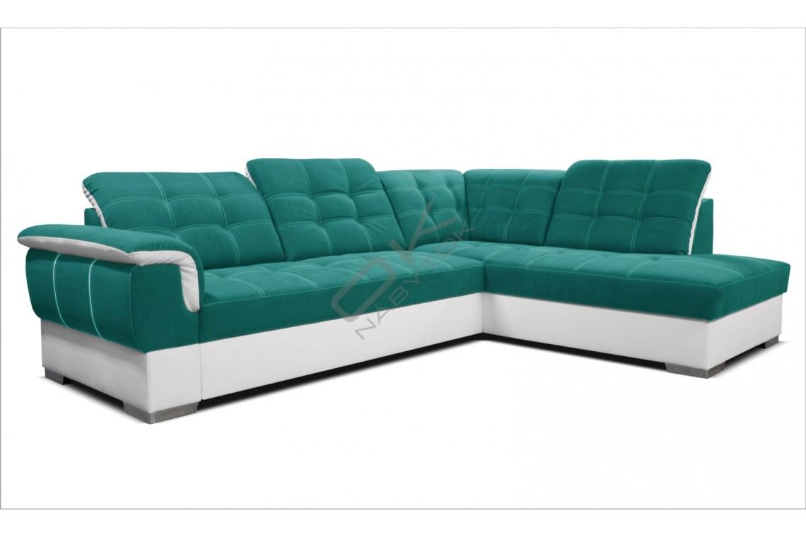 Rohová sedacia súprava GALAXY - sivá/svetlosivá