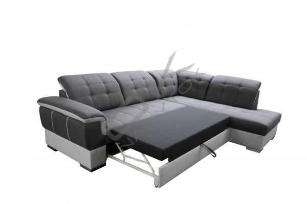 Rohová sedacia súprava GALAXY - tyrkysová/svetlosivá