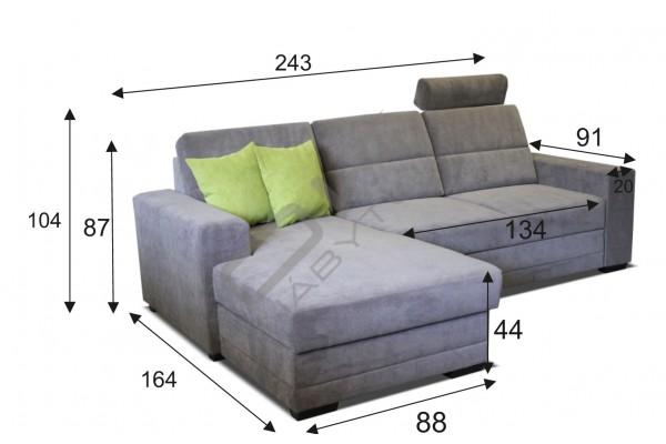 Rohová sedacia súprava NELSON MALÝ ROH