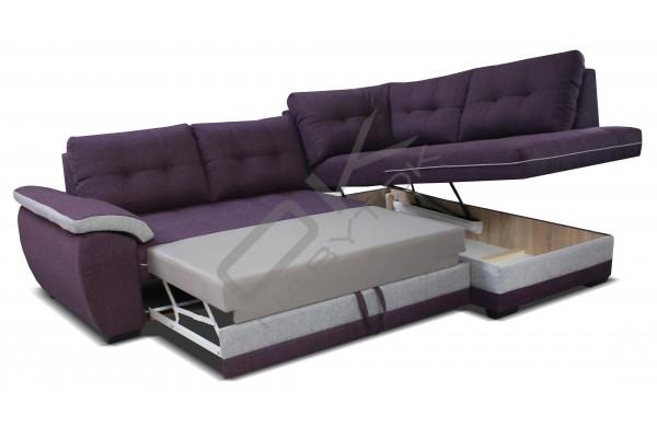 Rohová sedacia súprava RUBA - hnedá/cream  (L)