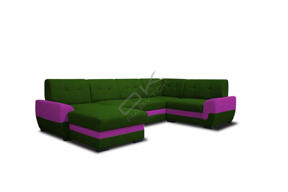 Sedacia súprava SIMONA U - zelená/fialová