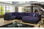 Damario - Orinoco 65 fialová + eko koža Soft 11 čierna/korpus