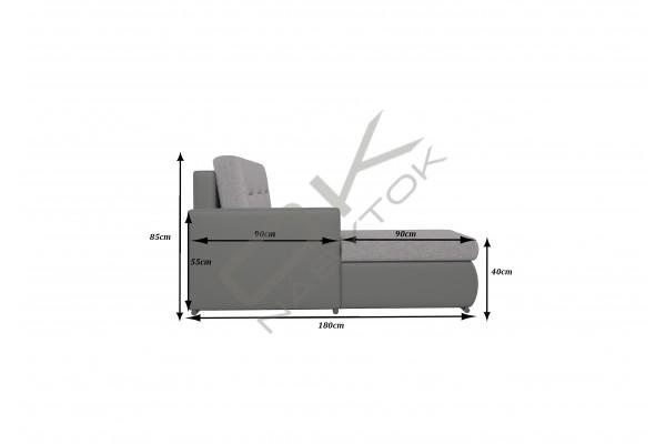 Rohová sedacia súprava FELIMA - svetlosivá/biela