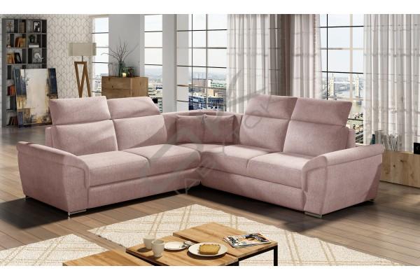 Luxusná rozkladacia rohová sedačka FRED - powder pink