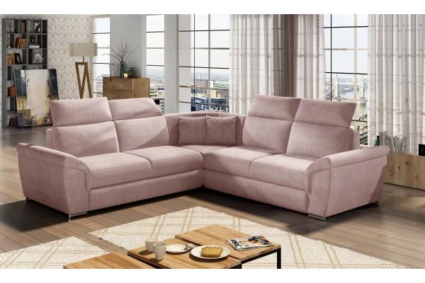 Luxusná rozkladacia rohová sedačka LORCA - powder pink