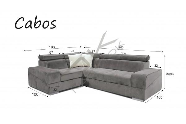 Rohová sedacia súprava CABOS MALÝ ROH