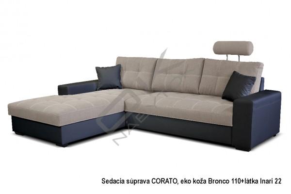 Rohová sedacia súprava CORATO