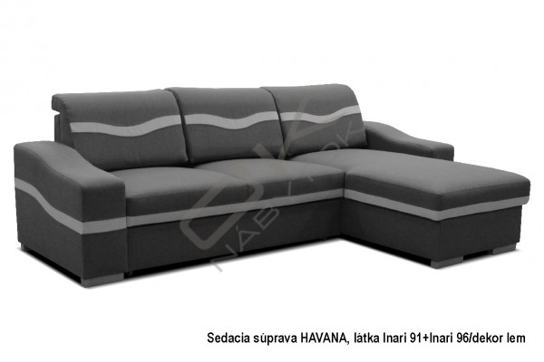 Rohová sedacia súprava HAVANA