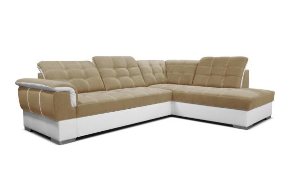 Rohová sedacia súprava SHANI - cappuccino/biela