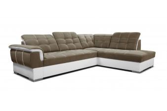 Rohová sedacia súprava SHANI - piesková/biela