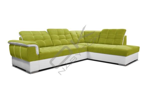 Rohová sedacia súprava SHANI - tmavosivá/biela