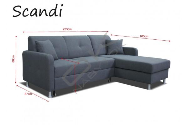 Rohová sedacia súprava SCANDI ROH