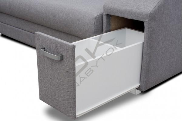 FENIX Rohová sedacia súprava ALFREDO - svetlosivá