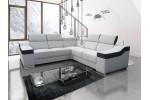 Monako malý roh -  (titulná foto) - Lux 01 cream + Soft 066 tmavohnedá (BASIC - 1. cenová skupina)