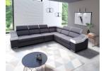 Monako veľký roh - (titulná foto) - Lux 08 graphite + Soft 31 biela