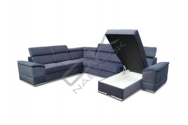 Rozkladacia sedacia súprava JOY U PANORAMIC - čierna/biela