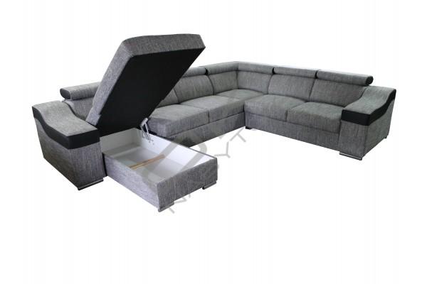 FENIX Rozkladacia sedacia súprava KAMELIA  - svetlosivá/čierna