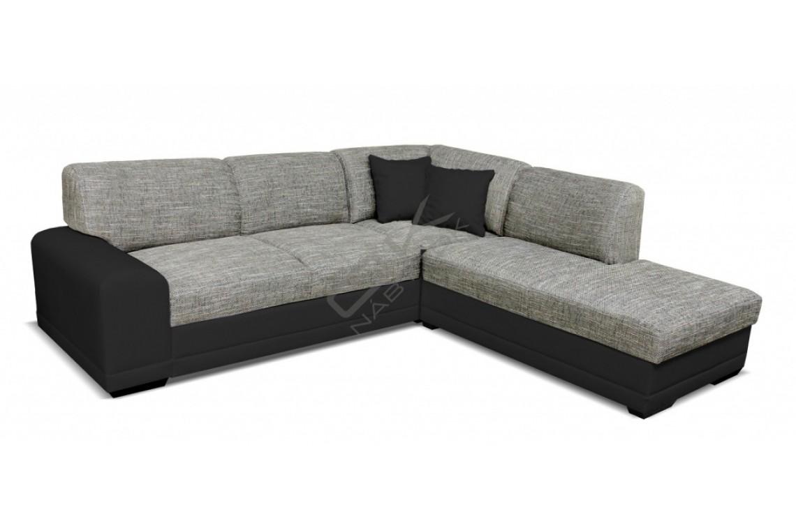 FENIX Rohová sedacia súprava LAGO - čierna