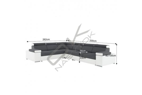 FENIX Rozkladacia rohová sedacia súprava MARBELA ROH - tmavohnedá/svetlohnedá