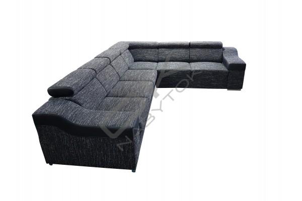 FENIX Rohová rozkladacia sedacia súprava MONAKO VEĽKÝ ROH - čierna