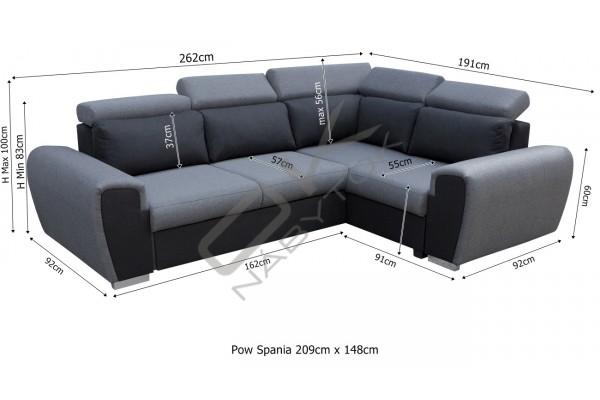 FENIX Rohová sedacia súprava WARD - svetlosivá