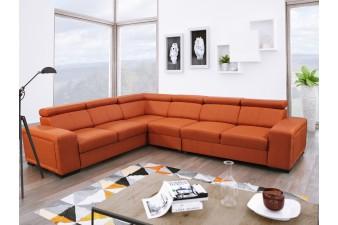 FENIX Rohová rozkladacia sedacia súprava CARI - oranžová