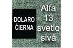 AKCIA - látka Alfa 13 svetlosivá + eko koža Dolaro čierna