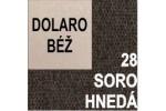 AKCIA - látka Soro 28 hnedá + eko koža Dolaro béžová