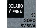 AKCIA - látka Soro 90 svetlosivá + eko koža Dolaro čierna