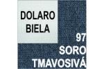 AKCIA - látka Soro 97 tmavosivá + eko koža Dolaro biela