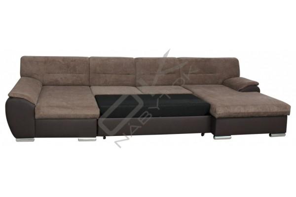 Rozkladacia sedacia súprava AGATA - tmavosivá/biela