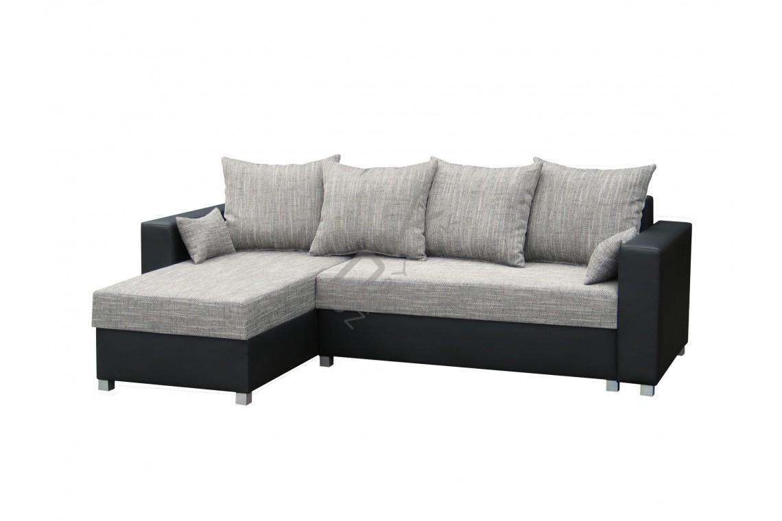 Univerzálna rohová sedacia súprava BRALANI - svetlosivá/čierna